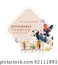 Farmer wreath design with cow, pig, goat 62111893