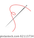 Sewing Needle vector icon. Thread vector sew tailor logo. isolated needle illustration 62113734