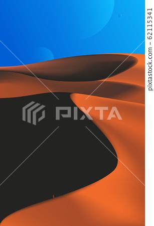 Desert Scenery Art in Vector 62115341