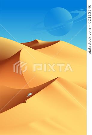 Desert Scenery Art in Vector 62115346