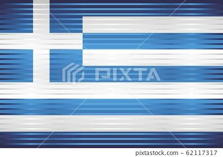 Shiny Grunge flag of the Greece 62117317