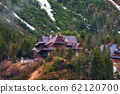 the house on the shore of a mountain lake Morsko oko in nenastnoy weather may 2017 62120700