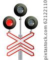 Semaphore signal traffic,Train lights realistic. vector modern design illustration. 62122110