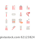 BEAUTY AND COSME ICON SET 62123824
