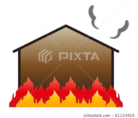 Fire burning 62124929