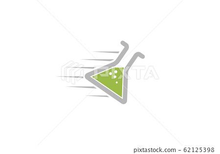 Creative Abstract Speed Beaker Lab Design Vector Symbol Illustration 62125398