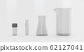 Test-tubes isolated on white laboratory glassware 3d render illustration on white background 62127041