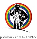 Group of Rugby players action cartoon sport graphic vector. 62128977