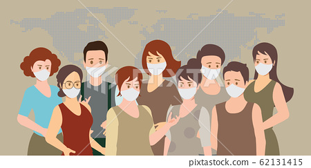 People wearing medical masks to prevent 62131415
