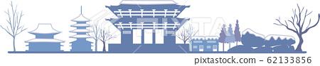 奈良剪影顏色冬天 62133856
