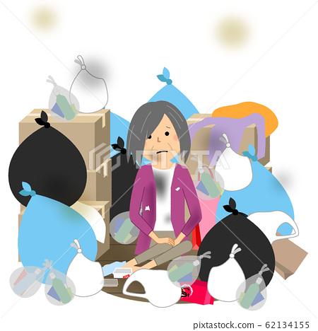 垃圾和老人高级女人 62134155