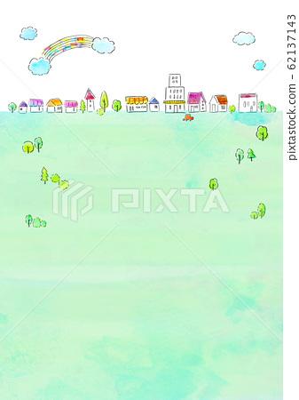 자연 풍경 주택 수채화 62137143