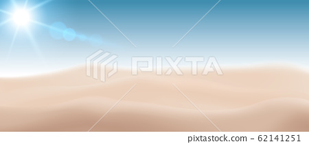 Blurred beach sand With the Sun Sky Summer concept. Vector Realistic file. 62141251