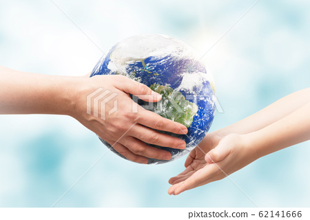 Earth globe in hands. World environment day 62141666