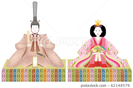 Hina娃娃男小雞女小雞白色背景 62149579