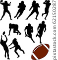 American football silhouettes set 62150287