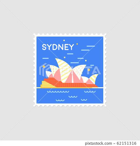Sydney, Australia. Vector illustration 62151316