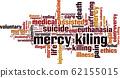 Mercy killing word cloud 62155015