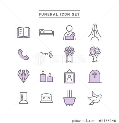 FUNERAL ICON SET 62155146