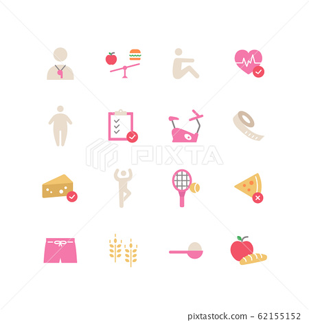 DIET ICON SET 62155152