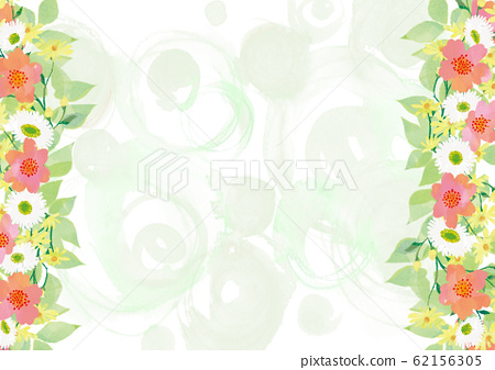 綠色花紋花背景圖像 62156305