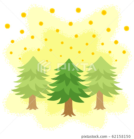 Cedar pollen scattering (hand-drawn style) 62158150
