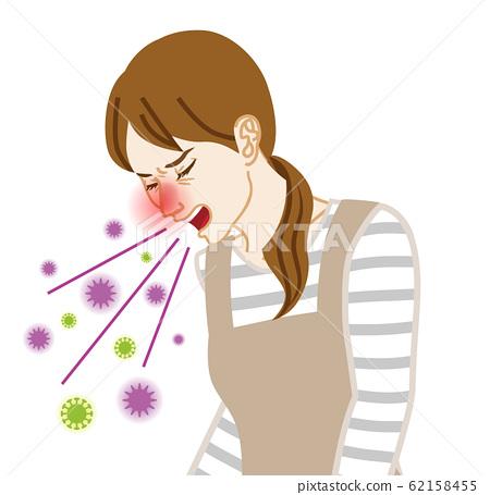 家庭主婦咳嗽病毒傳播 62158455