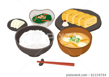 Illustration of Japanese breakfast 62159784