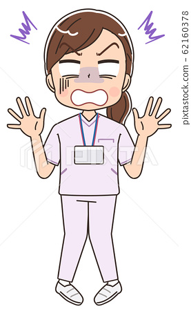 護士白大褂的女人圖護士卡通醫療可愛 62160378