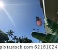Hawaii sky and national flag 62161024