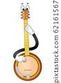 Mascot Banjo Play Illustration 62161567