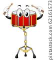 Mascot Snare Drum Illustration 62161573