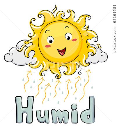 Mascot Sun Humid Illustration 62161581