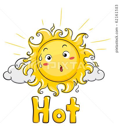 Mascot Sun Hot Illustration 62161583