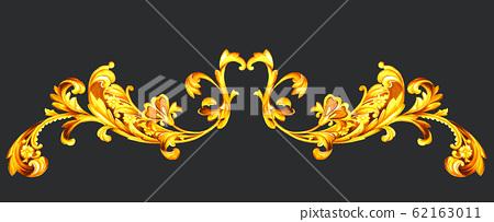 奢華的歐式紋樣巴洛克風格素材 62163011