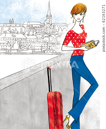 A woman who went on a trip to Europe 62163271