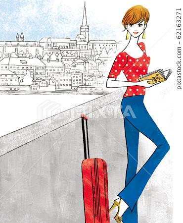 一個去歐洲旅行的女人 62163271