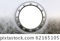 Round metal frame isolated on the white  62165105