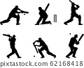 cricket players silhouettes 62168418