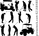 golfers silhouettes collection 62168480