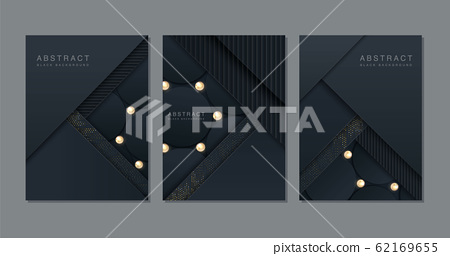 Black background. Abstract realistic paper cut  62169655