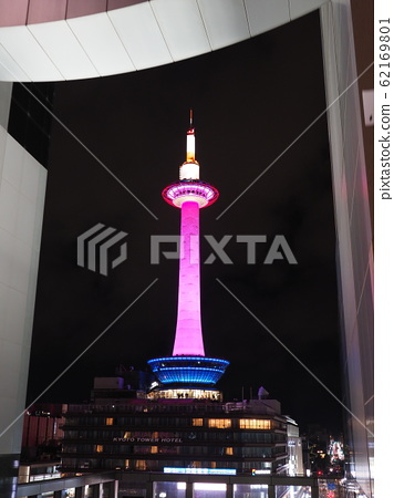 Kyoto Tower @ Pink Light Up 62169801
