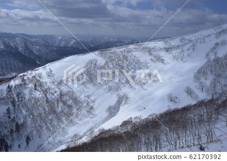 冬季,雪景,山脈,自然,風景,樹,陽光,藍色 62170392