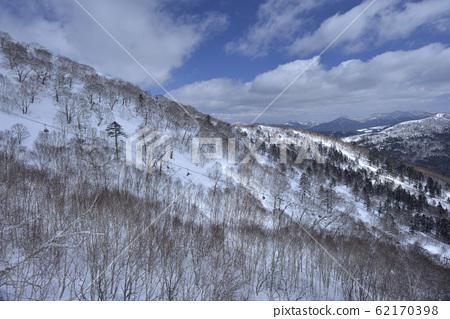 冬季,雪景,山脈,自然,風景,樹,陽光,藍色 62170398