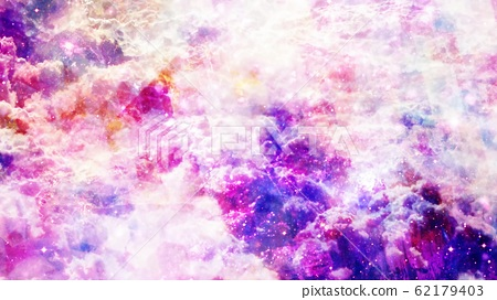 Mystical Purple Abstract Clouds with Fast Turbulent Particles - Abstract Background Texture 62179403