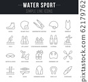 Set Vector Line Icons of Water Sport. 62179762