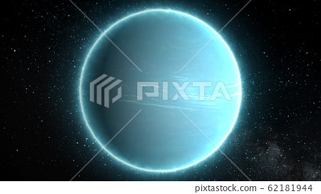 Beautiful View of Planet Uranus from Space Timelapse and Stars - Abstract Background Texture 62181944