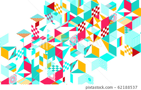 Abstract colorful geometric background 62188537