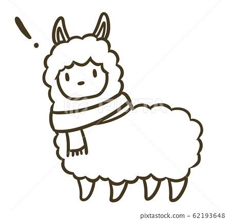 羊駝與消聲器(!標記)的說明 62193648