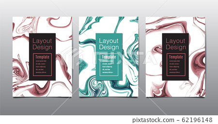 black, white marble template, covers design layout, colorful texture, realistic , backgrounds. Trendy pattern, graphic poster, geometric brochure, cards. Vector illustration. 62196148